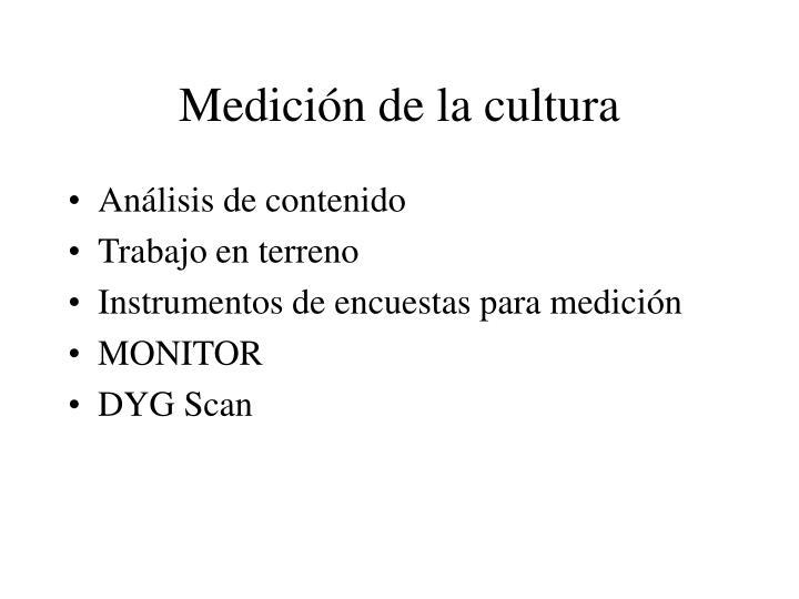 Medición de la cultura
