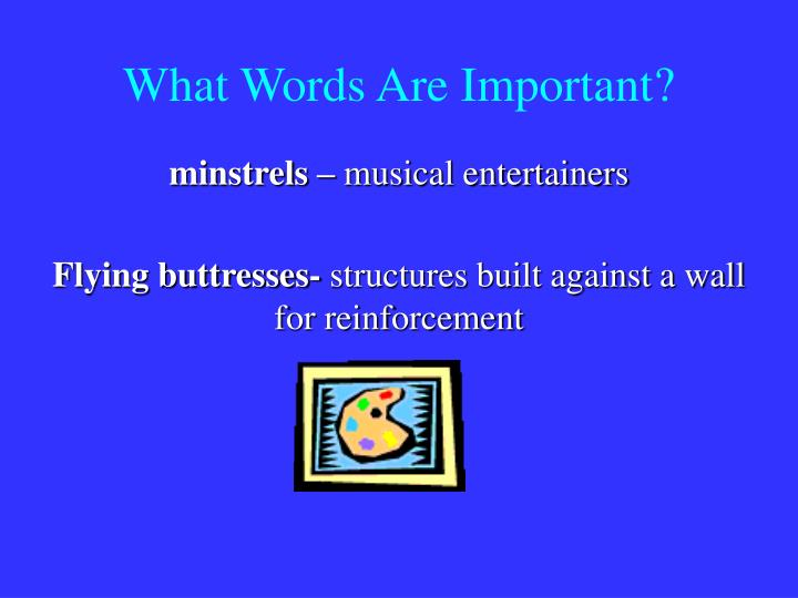 What Words Are Important?