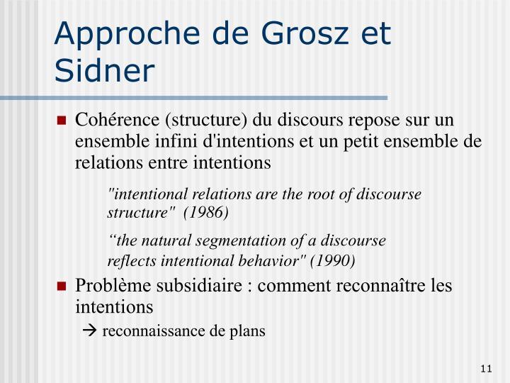 Approche de Grosz et Sidner