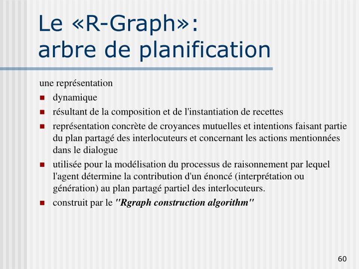 Le «R-Graph»: