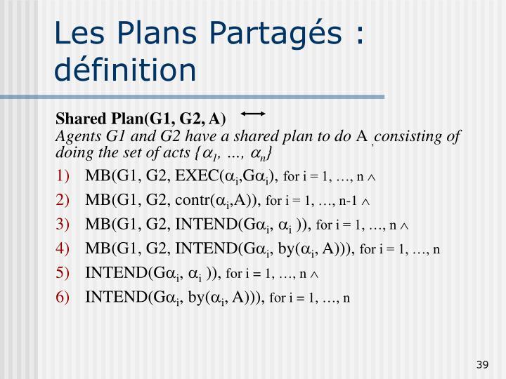 Les Plans Partagés : définition