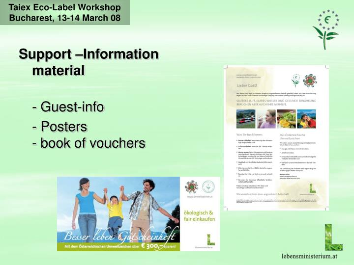 Support –Information material