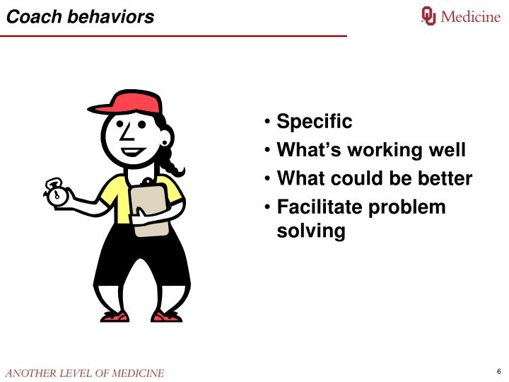 Coach behaviors