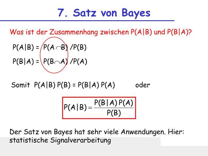 7. Satz von Bayes