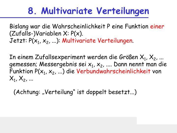 8. Multivariate Verteilungen