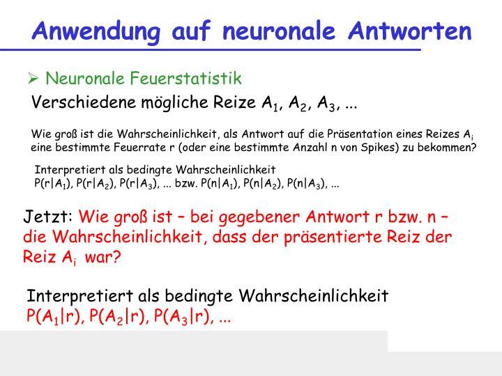 Anwendung auf neuronale Antworten