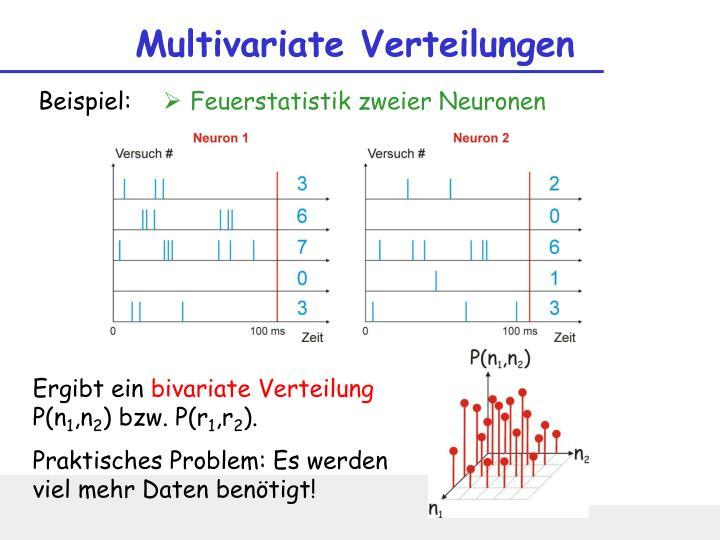 Multivariate Verteilungen