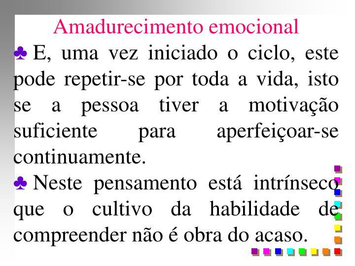 Amadurecimento emocional