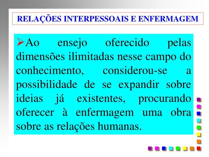 RELAÇÕES INTERPESSOAIS E ENFERMAGEM