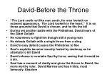 david before the throne
