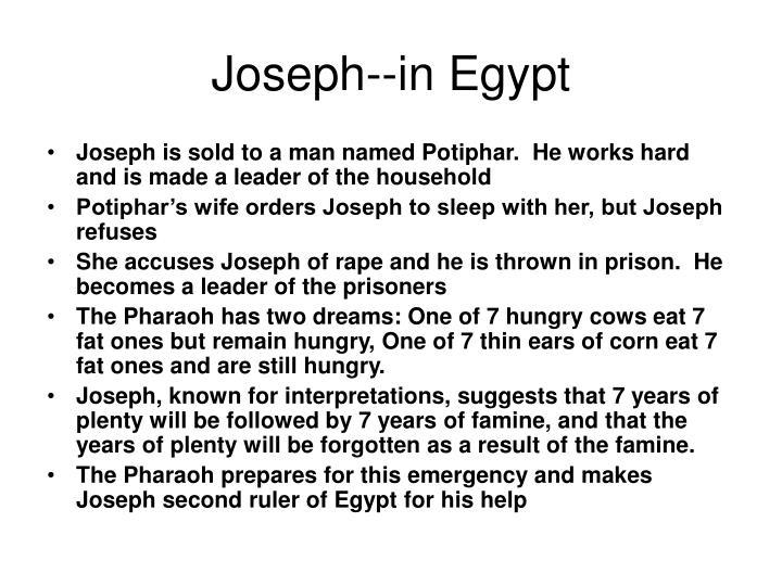 Joseph--in Egypt