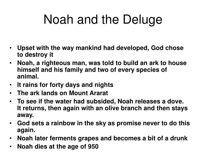 Noah and the Deluge