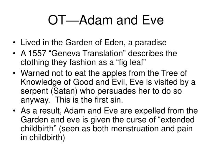 Ot adam and eve