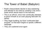 the tower of babel babylon