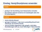 einstieg handy smartphones verwenden