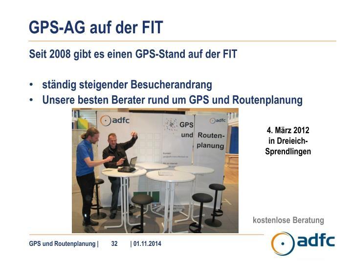 GPS-AG auf der FIT