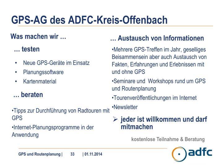 GPS-AG des ADFC-Kreis-Offenbach