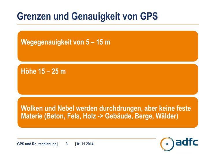 Grenzen und Genauigkeit von GPS