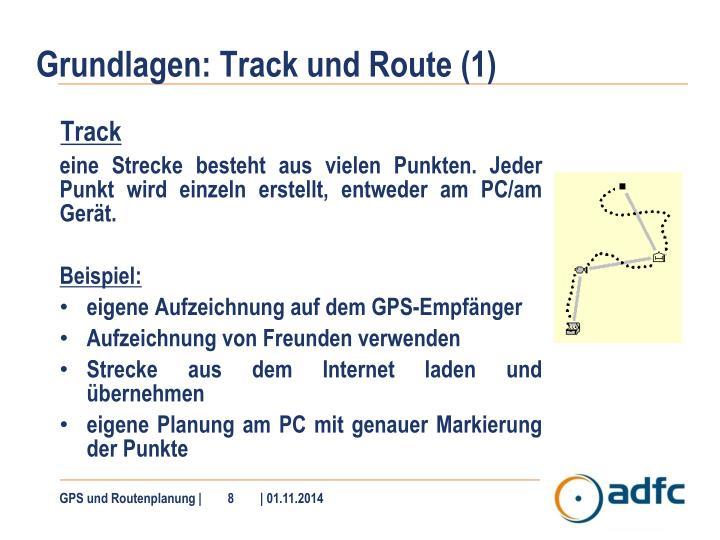 Grundlagen: Track und Route (1)