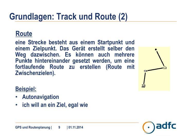Grundlagen: Track und Route (2)