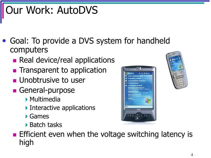 Our Work: AutoDVS