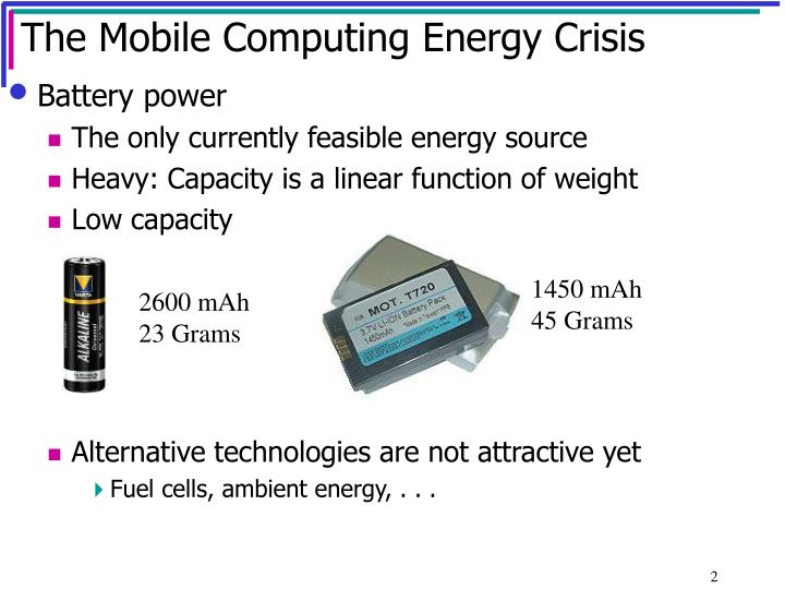 The mobile computing energy crisis