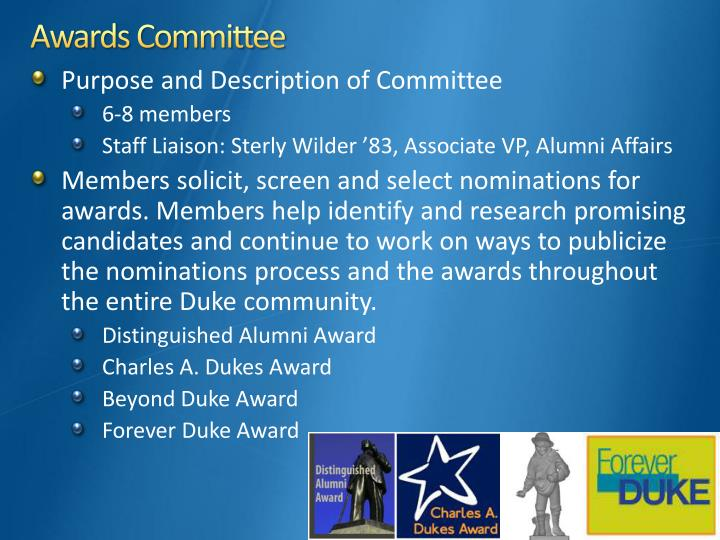 Awards Committee