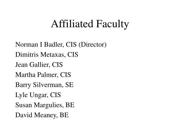 Affiliated Faculty