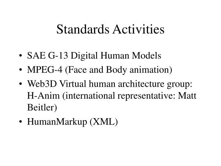 Standards Activities