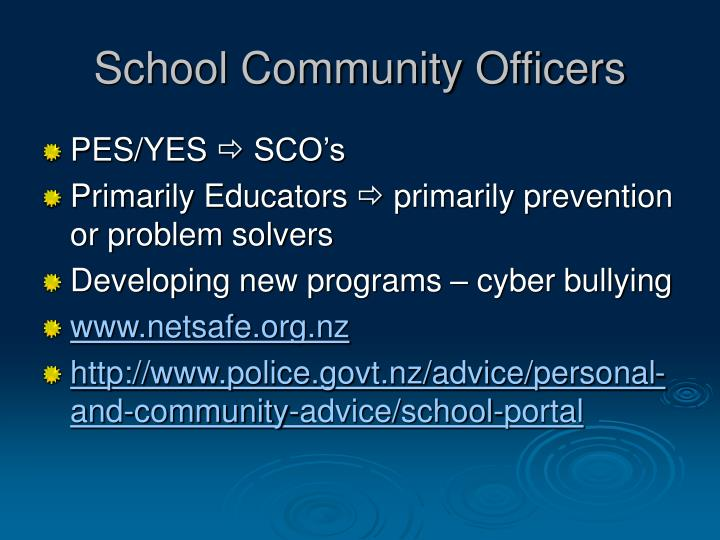 School Community Officers
