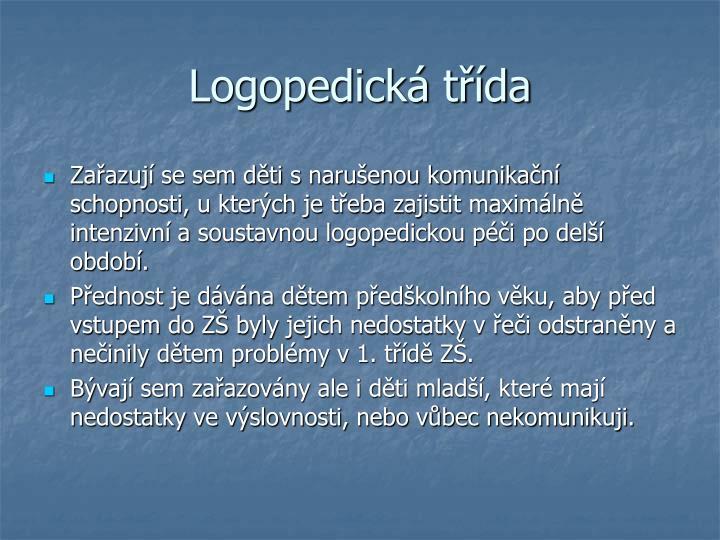 Logopedická třída