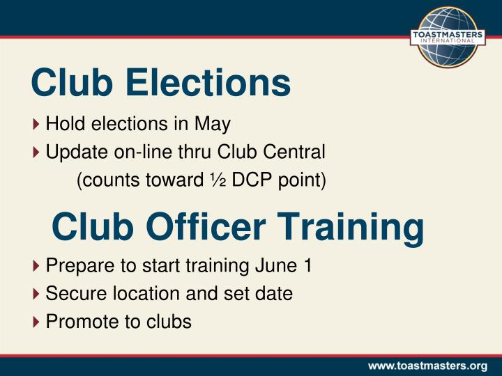 Club Elections