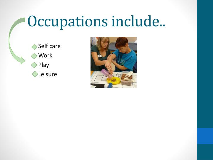 Occupations include..
