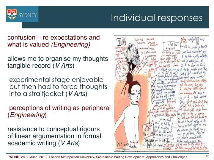 Individual responses