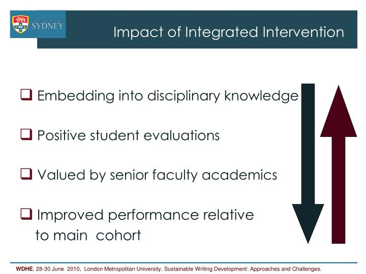 Impact of Integrated Intervention