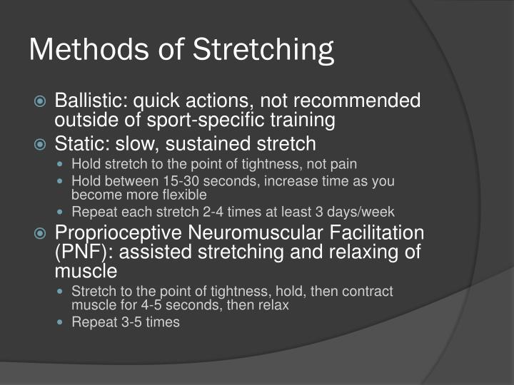 Methods of Stretching