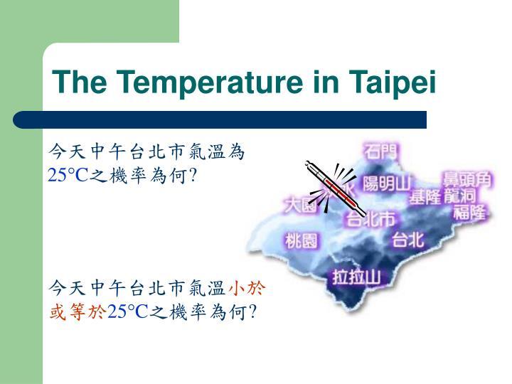 The Temperature in Taipei