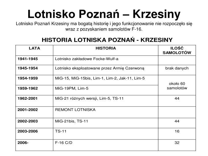 Lotnisko Poznań – Krzesiny