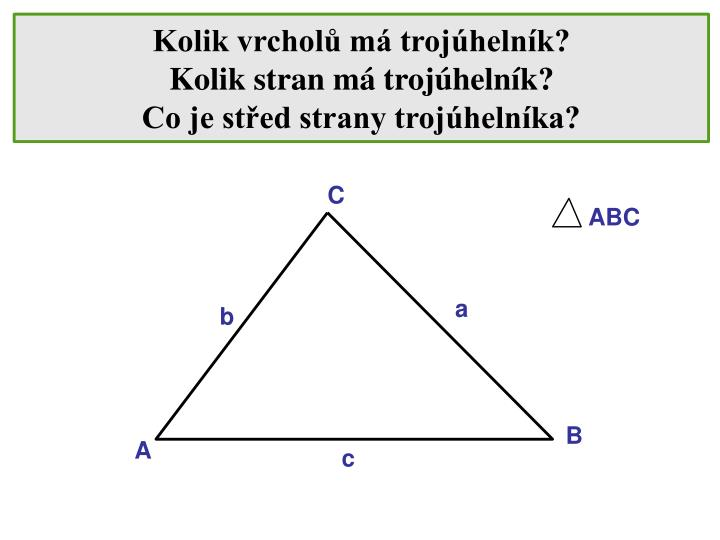 Kolik vrcholů má trojúhelník?
