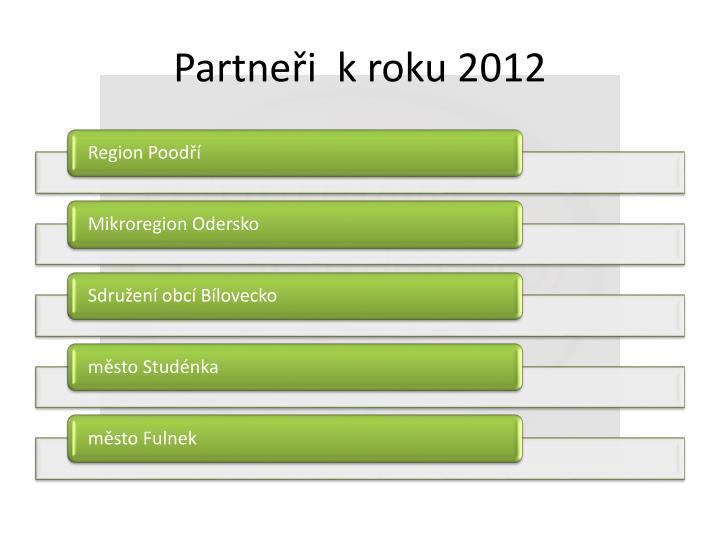 Partneři  k roku 2012