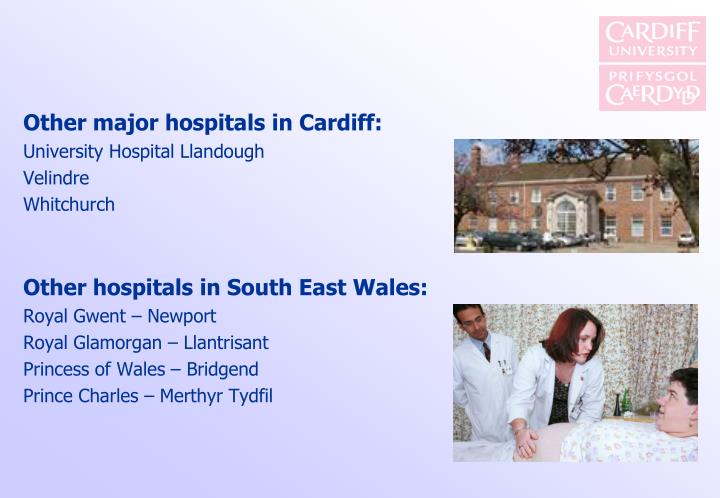 Other major hospitals in Cardiff: