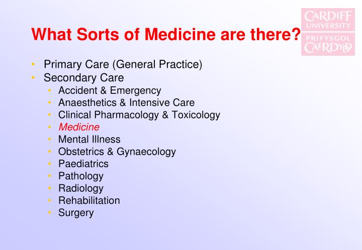 What Sorts of Medicine are there?