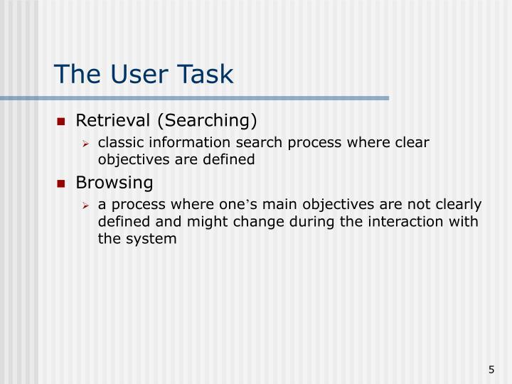 The User Task