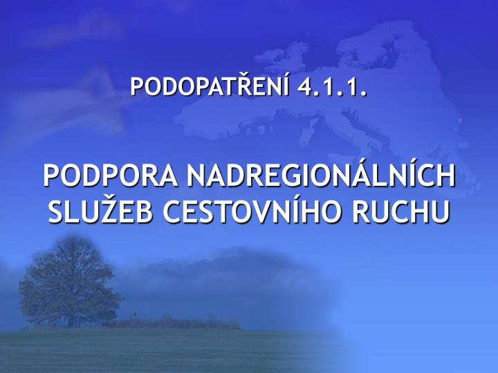 PODOPATŘENÍ 4.1.1.