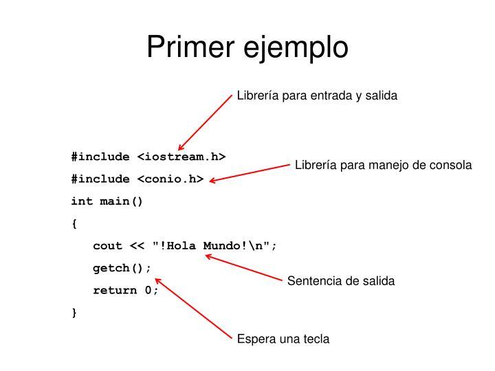 Primer ejemplo
