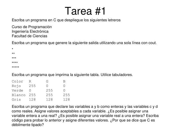 Tarea #1