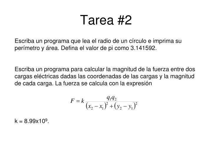 Tarea #2