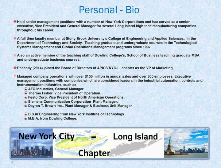 Personal - Bio