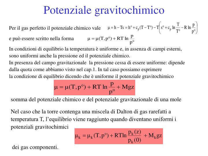 Potenziale gravitochimico