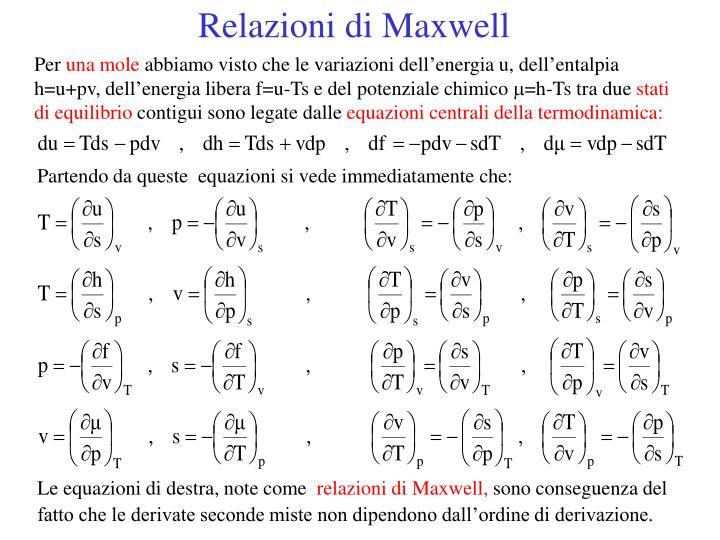 Relazioni di Maxwell